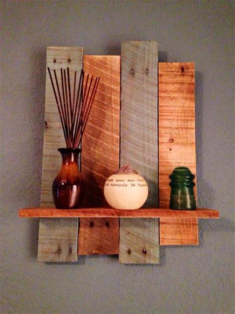 diy rustic pallet wall shelf 101 pallets