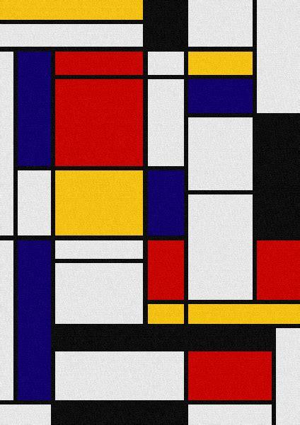 color block painting mondriaan primary color block