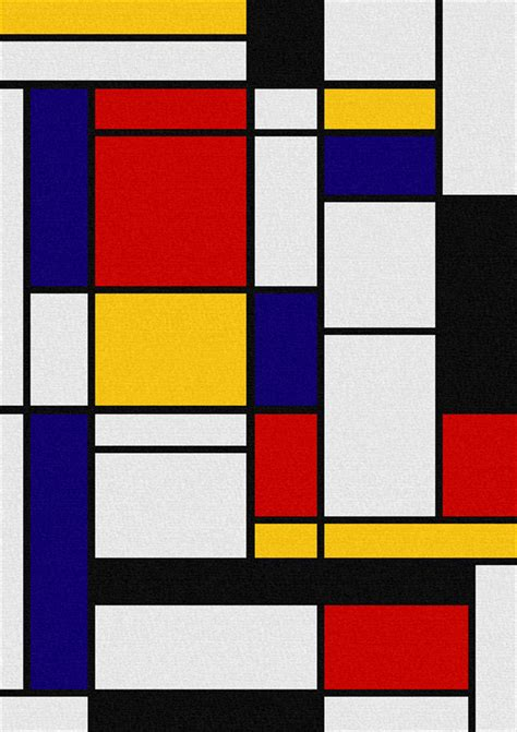 color block le vii mondriaan primary color block