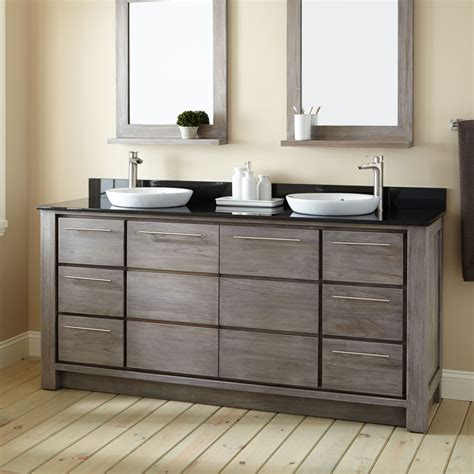 72 double vanity for bathroom 72 quot venica teak double vanity for semi recessed sinks