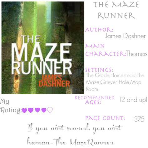 maze runner book report the maze runner bookreview mrs aok a work in progress