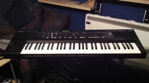 Keyboard Roland Tipe E roland e 30 keyboard 4 demonstration songs