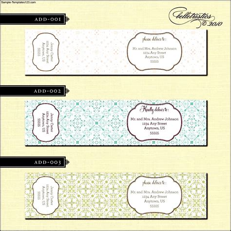 wrap template free wrap around address label template sle templates