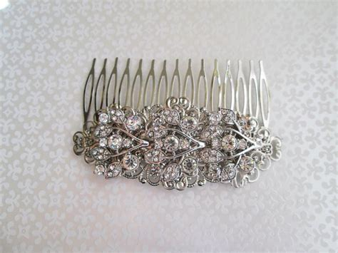 Vintage Bridal Hair Barrette by Bridal Barrette Wedding Hair Clip Rhinestone Barrette