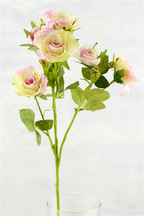 decorative stems for vases dried rose stems sharp thorns branches long stem silk roses cream pink