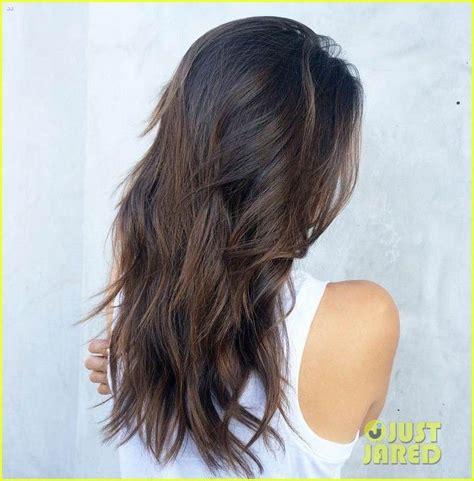 dobrev hair color dobrev flaunts new almond truffle hair color
