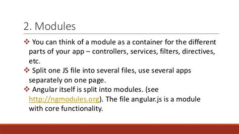 directive controllers cannot use the revealing module angularjs overview key features