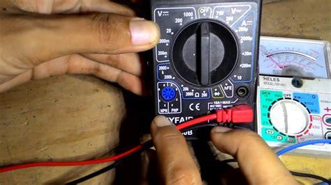 Multitester Ere Cara Tes Kapasitor Dengan Multitester 28 Images Cara Mengukur Kapasitor Mesin Cuci Dengan