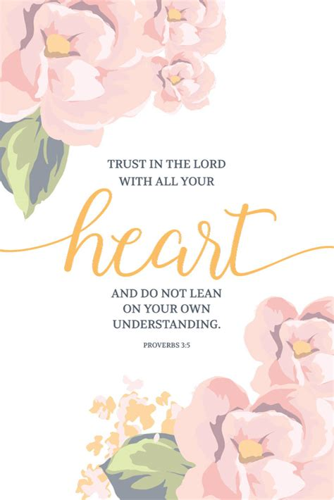trust in the lord with all your heart proverbs 3 5
