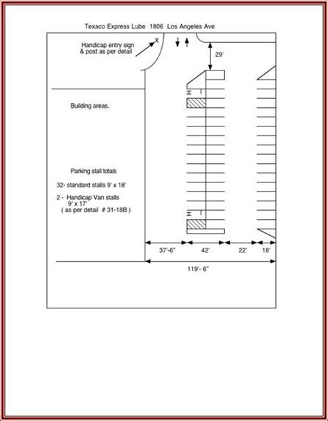 Pics For Gt Parking Lot Layout Template Parking Lot Layout Template