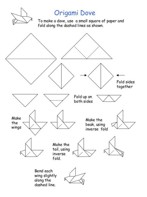 Origami Pages - free coloring pages origami dove 101 coloring pages