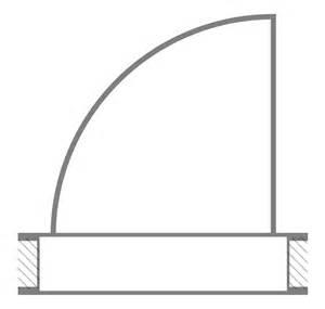Symbol For Door On Floor Plan Original File Svg File Nominally 164 215 156 Pixels