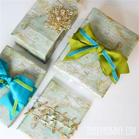 gift wrap bag diy vintage map gift wrap and gift bags the