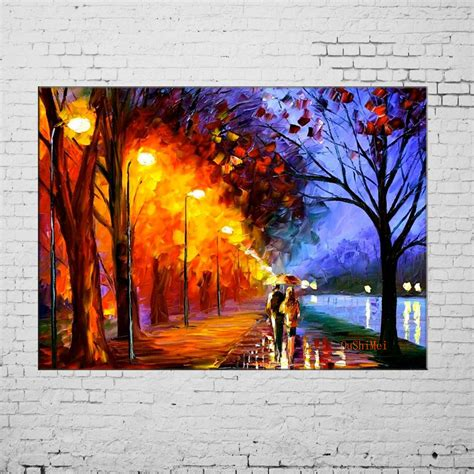 Handmade Paintings On Canvas - aliexpress buy handmade landscape