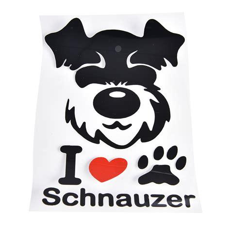 Schnauzer Car Stickers i schnauzer car window stickers decals
