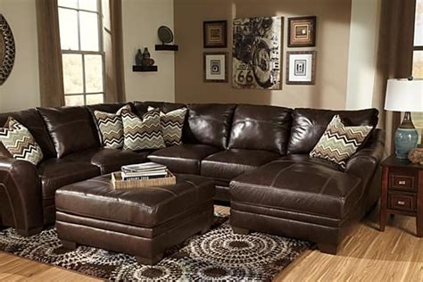 leather sectionals ashley furniture the beenison chocolate sectional from ashley furniture