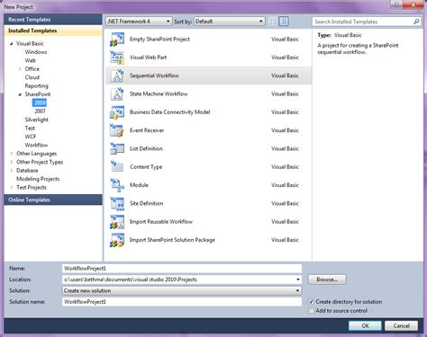 sequential workflow in sharepoint 2010 visual studio exles migrating a 2007 workflow to visual studio sharepoint