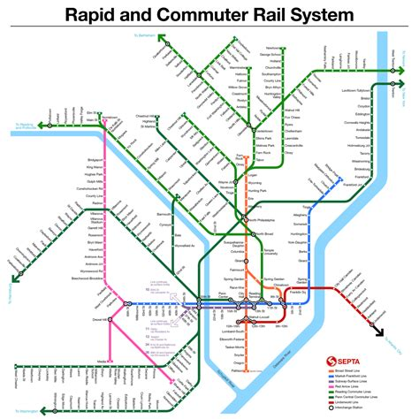 philadelphia subway map transit maps