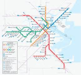 Map Of Boston T by Boston By Bike Give It Back To People