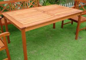 Wood Patio Table Plans Diy How To Build An Outdoor Wood Table Plans Free
