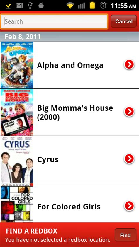 redbox app for android official redbox app lands on android reserve from anywhere droid
