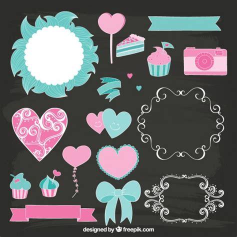 cute wedding decoration vector free download cute decoration elements vector free download