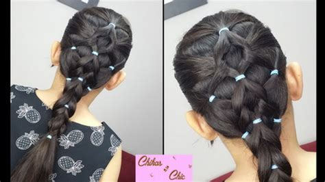 simple hairstyles with one elastic hairstyles using rubber bands