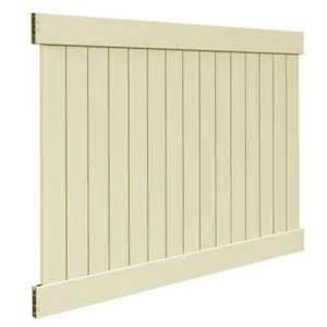 home depot privacy fence veranda 6 ft x 8 ft sand vinyl linden pro privacy fence