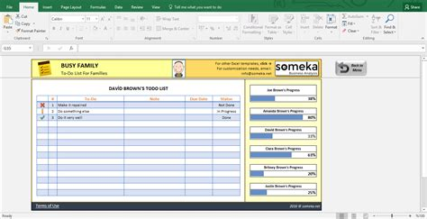 cool excel spreadsheet templates family to do list printable checklist template in excel