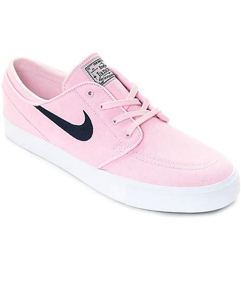 nike sb janoski prism pink navy canvas skate shoes