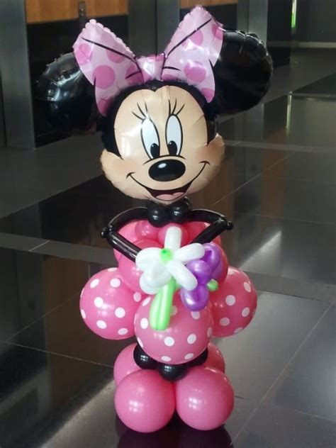 Minnie Mouse Balloon Decoration by Ballooncr8ive Character Balloon Columns