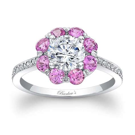 barkev s engagement ring with pink sapphires 7661lps