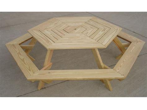 pdf diy plans to build a hexagon picnic table download