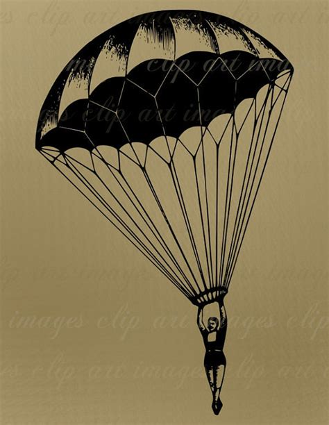 parachute tattoo designs parachute clip vintage royalty free no credit required