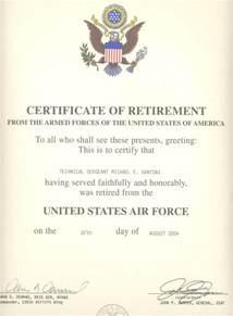 navy retirement certificate template retirement certificate template
