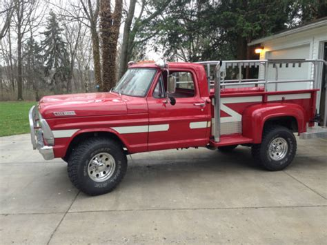 f250 long bed red 1967 f250 highboy long bed step side classic ford f 250 1967 for sale