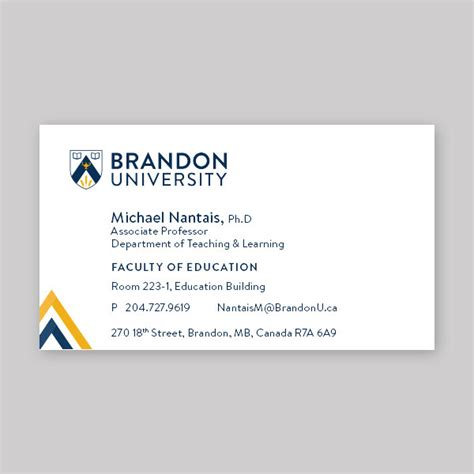 business card page