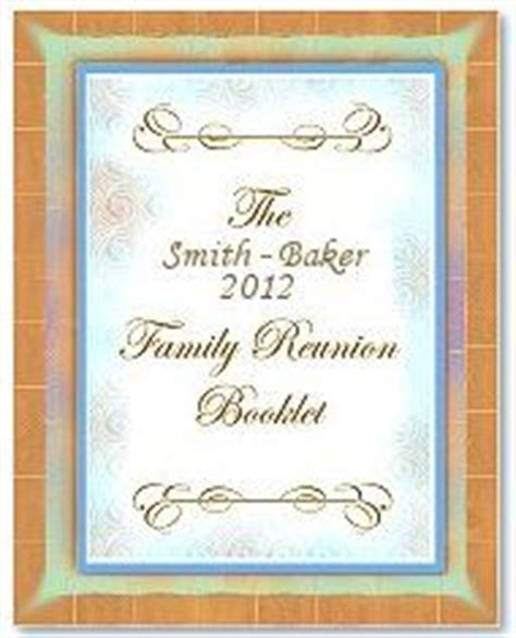 Family Reunion Keepsake History Memory Book A 10 Page Template Document In Doc Format Page Family Memory Book Templates