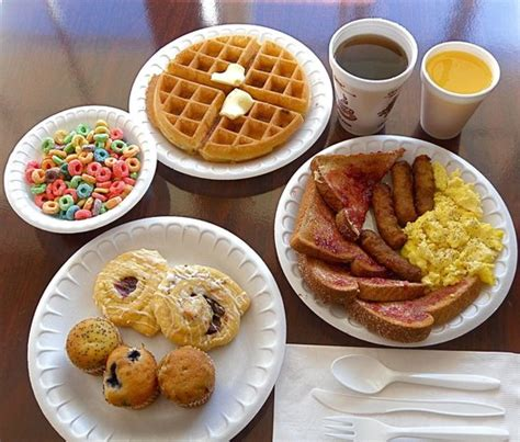 breakfast at comfort suites deluxe hot breakfast buffet every morning picture of