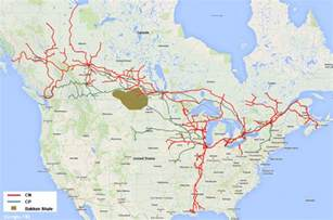 Canada Train Map map crude rail lines across canada cbcnews ca