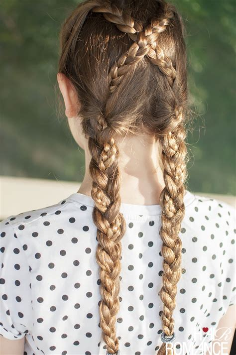 Pretty Hairstyles For School With Braids by Back To School Hairstyles Criss Cross Braids Tutorial