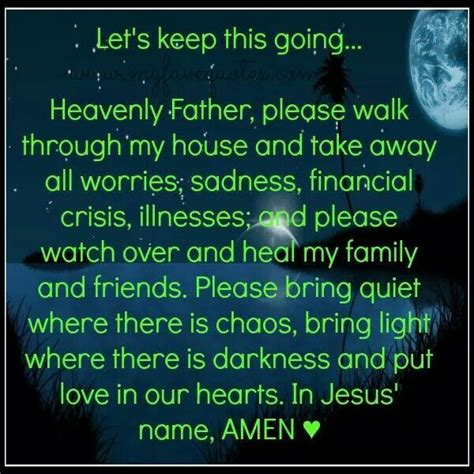 prayer quot heavenly walk through house and
