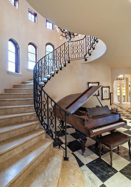 Villa Stairs Design Riverfront Villa Mediterranean Staircase Miami By Architectural Photographer Rosenzweig