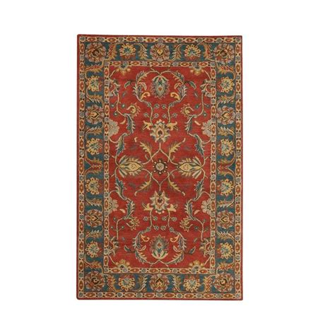 rugs home decorators home decorators collection aristocrat rust red 6 ft x 9