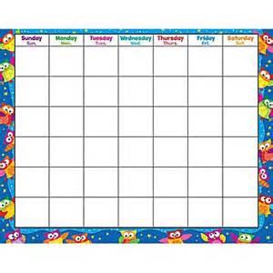 owl calendar template trend enterprises 174 owl monthly wipe 174 calendar