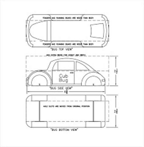 simple car template cool pinewood derby templates free premium