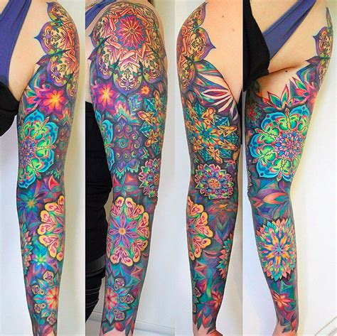 colorful geometric tattoos rom azovsky just look at the detail and color ink