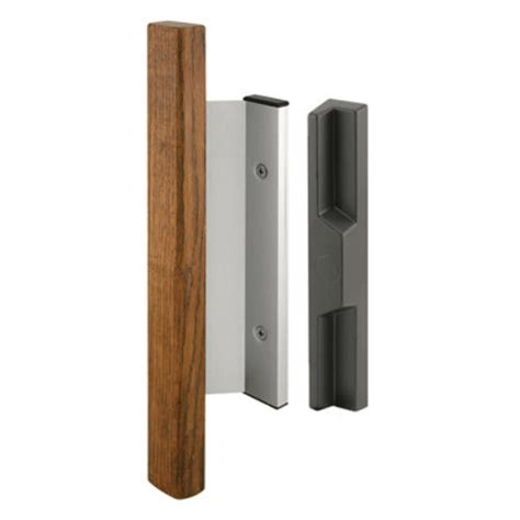 Prime Line Patio Door Handle Prime Line 3 15 16 Quot Aluminum Sliding Door Handle Set With Wood Pull At Menards 174