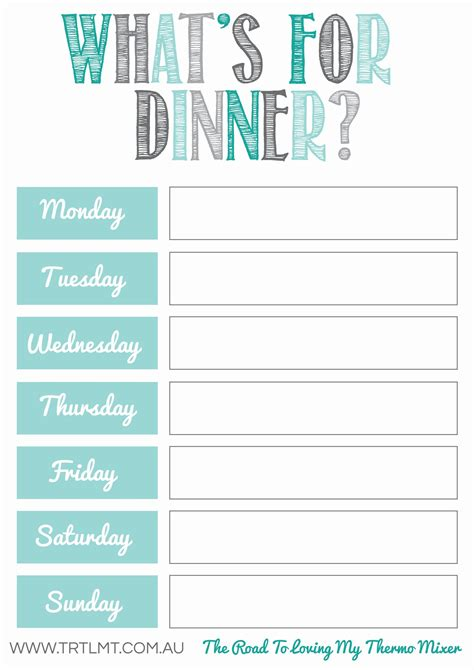 whats dinner fb organization meal planner