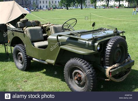 Second War Us Army Jeep Perth Scotland United